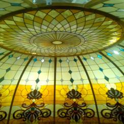 Витражный купол с подсветкой